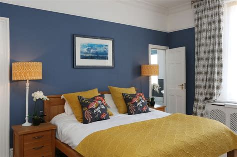premium style  playful yellow mustard bedroom