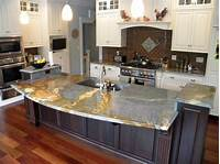 granite kitchen countertops Blue Louise Granite Installed Design Photos and Reviews ...