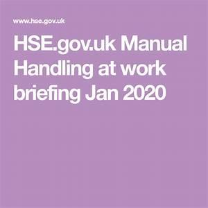 Hse Gov Uk Manual Handling At Work Briefing Jan 2020 In