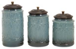 Kitchen Canisters Set Ceramic Canisters Set Of 3 Contemporary Kitchen Canisters And Jars By Imax