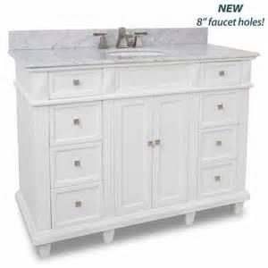 jeffrey alexander douglas painted white bathroom vanity