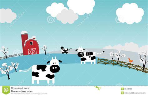 winter   farm stock illustration illustration