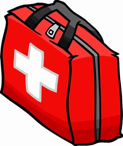 Aid Kit Clipart Clip Kits Emergency Cartoon