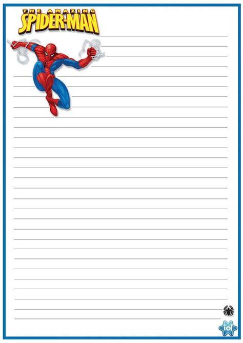 spiderman stationary  printable stationery