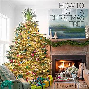 How to Hang Christmas Tree Lights from Better Homes and