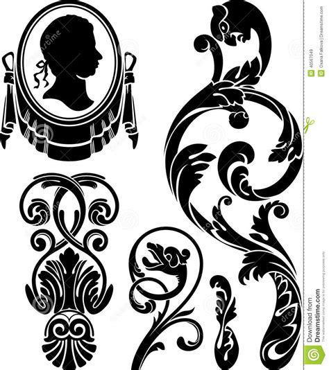 This is our main victorian interior design style guide where you can access victorian interior ideas and galleries for each room of the home. Victorian Design Elements Stock Vector - Image: 40567049