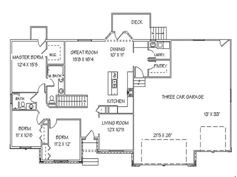 Single Story Open Floor Plans Ranch House Floor Plans with ...