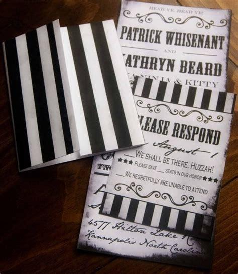 invitacion de boda vintage blanca  negra handspire