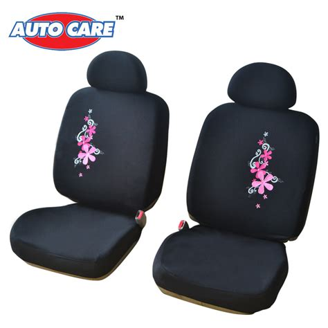 autocare 2016 new flower embroidery car seat cover universal fit 9pcs and 4pcs pink car covers