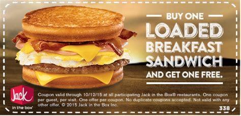 jack   box bogo breakfast sandwich
