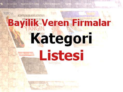 Bedelsiz bayilik veren firmalar Ücretsiz Bayilik Veren Firmalar 2018 Franchise Veren Firmalar Türkiye nin Bayilik ve Franchising Portal