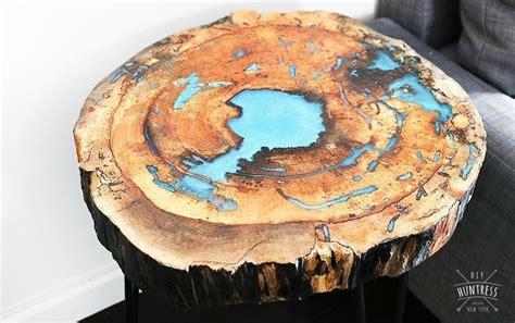 diy  edge resin table diy huntress