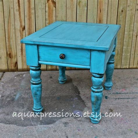 turquoise side table turquoise blue stand end table side by 2971