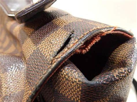 louis vuitton broadway damier ebene  brown canvas messenger bag  sale  stdibs