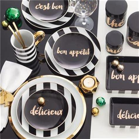 black  gold rosanna soiree noire appetizer plate set