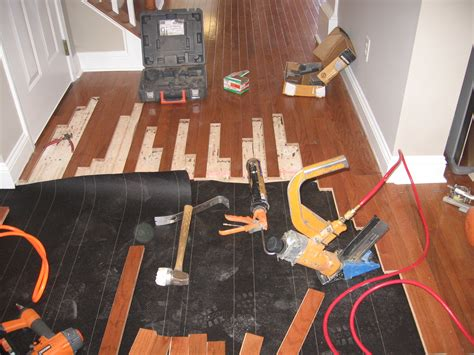 wood floor installation modern house