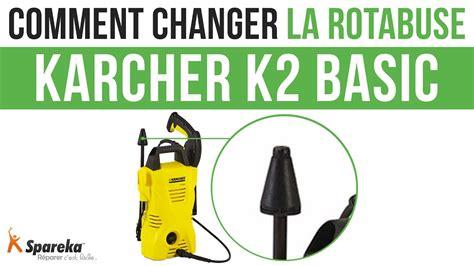 comment changer la rotabuse de votre karcher k2 basic