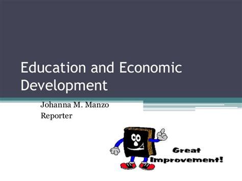 education economic devt