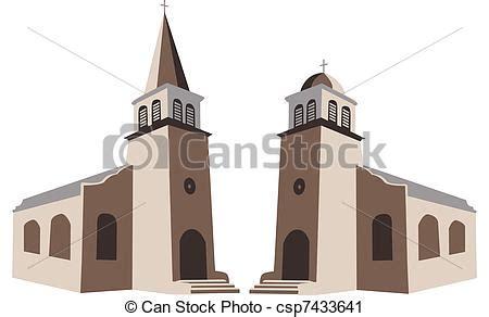 clipart chiesa clipart vettoriali di chiesa due chiese vettore