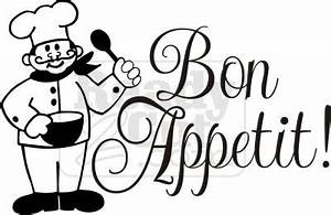 Bon Appetit! with cute chef vector graphic file download