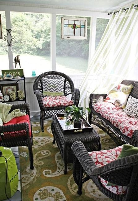 wicker furniture adding cottage decor feel  modern