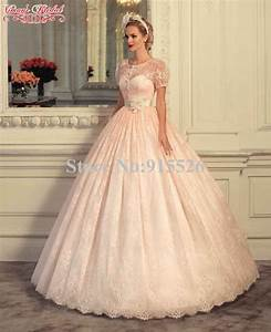 Aliexpresscom buy 2015 viman39s bridal peach colored for Peach colored dresses wedding