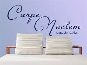 Wandtattoo Carpe Noctem : wandtattoo carpe noctem nutze die nacht bei ~ Sanjose-hotels-ca.com Haus und Dekorationen