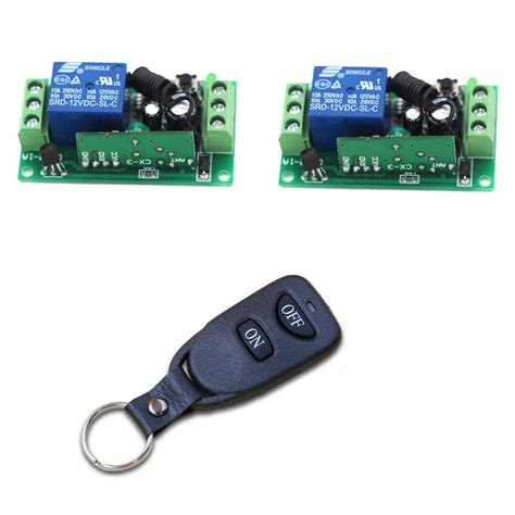 Wireless Remote Control Light Switch Relay Output