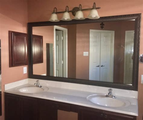 amazing master bathroom makeover frame  mirror