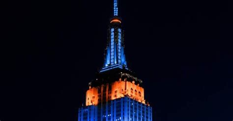 new york mets colors new york mets colors on the empire state building april