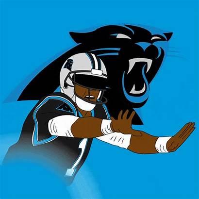 Dab Newton Animated Cam Carolina Gifs Panther