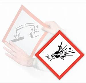 ghs exploding bomb pictogram placard 1075quot x 1075 With ghs placards