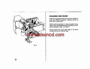 Kenmore 1218 1220 Sewing Machine Instruction Manual  With
