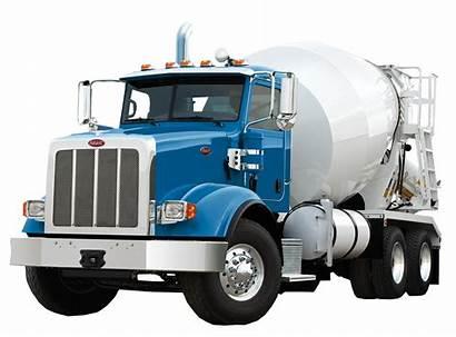 Truck Concrete Mixer Peterbilt Cement Wheeler Transparent