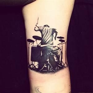Pin by Jenelle Felthauser on Heart Beats | Drummer tattoo ...