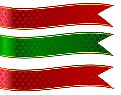 Clipart Banners Christmas Banner Ribbon Clip Ribbons