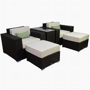 Lounge Set Rattan : discount until 60 outsunny 5pc outdoor pe rattan wicker lounge chair patio furniture set ~ Whattoseeinmadrid.com Haus und Dekorationen