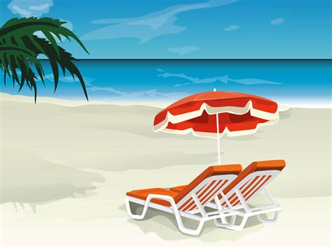 chaise longue plage wallpapers vector