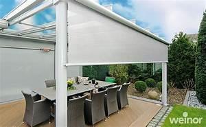 markisen beschatten terrassendach wintergarten With markise balkon mit schwarze tapete wohnzimmer