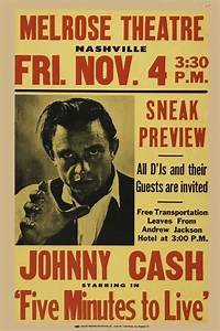 Johnny Cash Poster : cash johnny johnny cash five minutes to live poster 1963 in country music posters ~ Buech-reservation.com Haus und Dekorationen