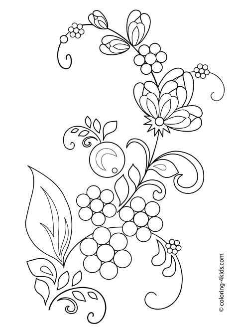 beautiful flowers coloring pages  kids printable