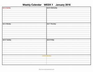 Take Blank Lined Weekly Printable Calendar  U22c6 The Best