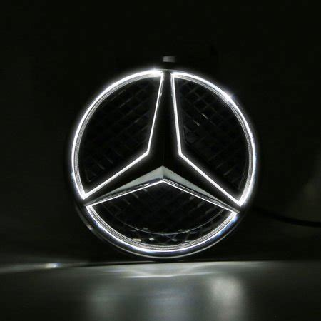 Mercedes logo by unknown author license: LED Light Front Grille Star Illuminated Emblem Badge for 2011-2016 MERCEDES BENZ - Walmart.com