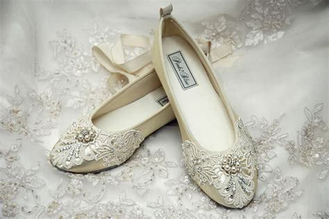 Ballet Flats Shoes : Wedding Shoes Womens Bridal Shoes Ballet Flats Womens Wedding