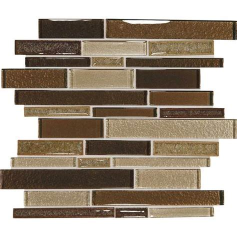 Daltile Crystal Shores Random Linear Mosaic Copper Coast