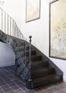 Décoration D Escalier Intérieur : photo dt122 esca 39 droit 2 4 tournants escalier d 39 int rieur balanc style 39 bistrot 39 en m tal ~ Nature-et-papiers.com Idées de Décoration