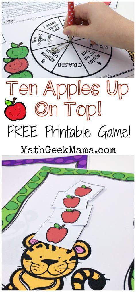 Ten Apples Up On Top Printable Game - Teach Junkie