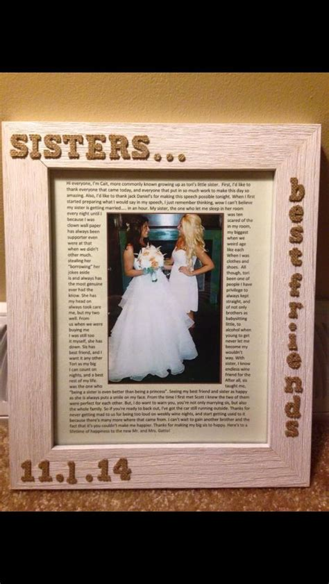 picture frame     sister   maid  honor