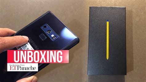 samsung galaxy note 9 unboxing and impression india unit blue etpanache