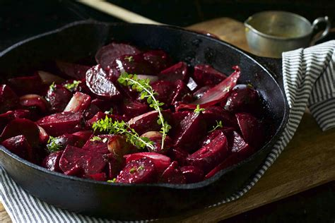 Roasted Beets And Shallots With Mustard Vinaigrette